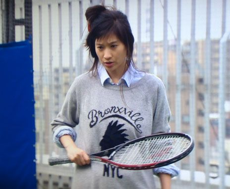 Ryoko Shinohara wearing our favourite cashmere Bronxville sweatshirt in a Japanese TV drama.
