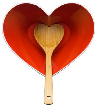 Heart Serving Bowl With Ladle - eclectic - serveware - Burke Decor