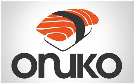 Sushi Logo. Orange and graphite.