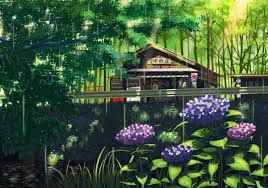Resultado de imagen para anime scenery rain
