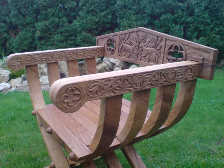Carved Gothic Folding Chair By Ikca A My Opera Slideshow