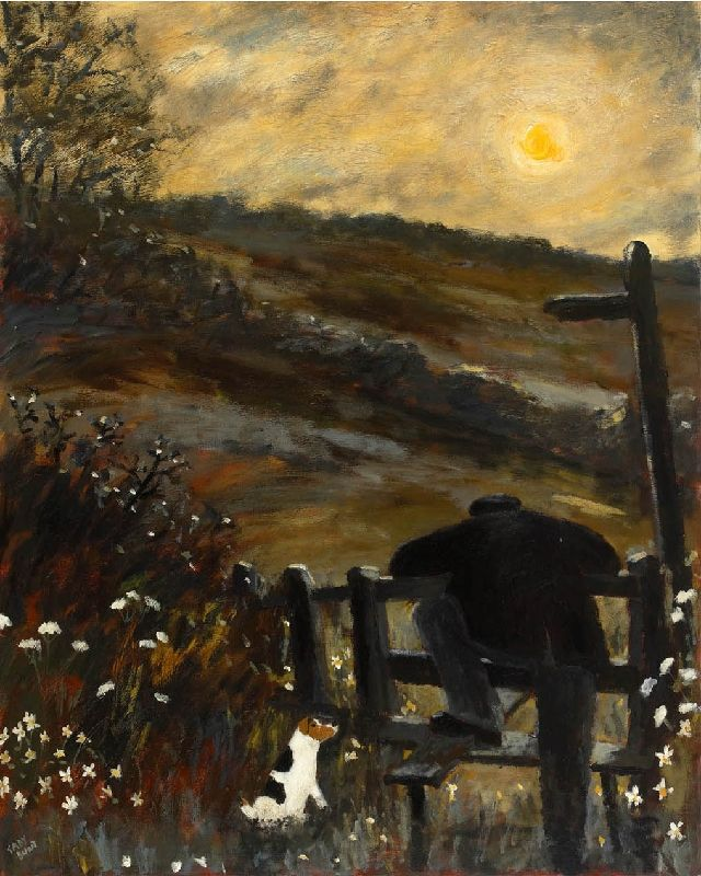 Gary Bunt   Sunrise: A man was leaning on a stile He'd been there for quite a while. The night-time left without a trace The sun it gently warmed his face.