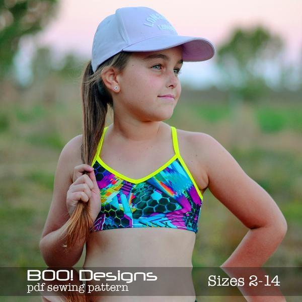 Pdf Pattern Bralette Free Sports Bra Sewing Pattern Girls Sewing Patterns Free Bralette Pattern