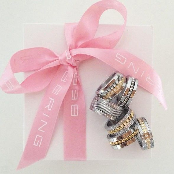 Pink Ribbon; Rings; Individual Rings, Arctic Symphony Collection