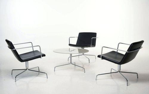 Contemporary swivel armchair FLAKES by Shl design & Lars Vejen PIIROINEN