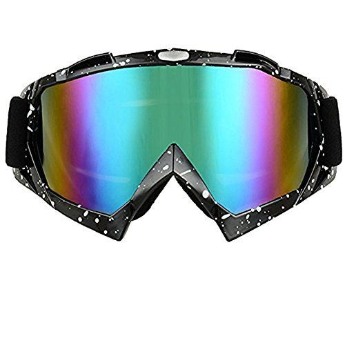 JOLIN Lunettes de protection cyclisme Moto Cross Scooter Ski Snowboard Goggles Glasses Eyewear (Dots frame,tinted lens): Matériaux: résine…