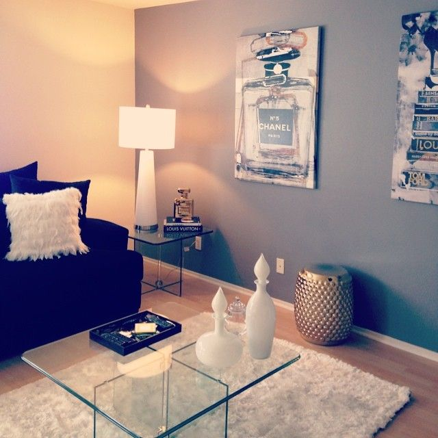 chanel room decor. chanel coasters & pillow | for the home