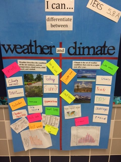 Science TEKS 5.8A Differentiate between weather and climate