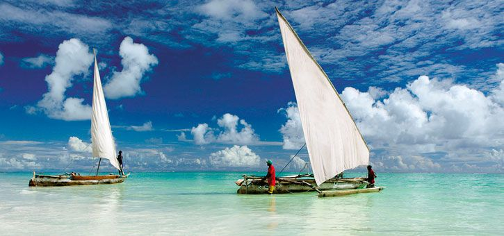 Relax on Zanzibar after you have climbed Kilimanjaro The Zanzibar archipelago is a tropical paradise perfect for relaxing before flying home. After just a short flight from Mount Kilimanjaro you could be celebrating your summit enjoying a cold drink looking out over Zanzibar's stunning white sands.