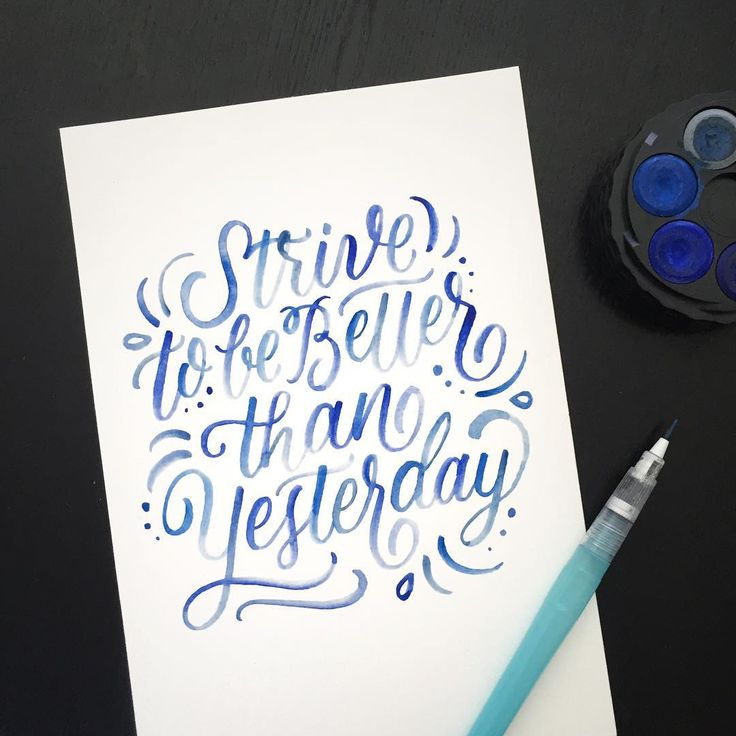 The only person you should be competing with is the person you were yesterday. it's a Pentel Aquash water brush. Super fun to use!