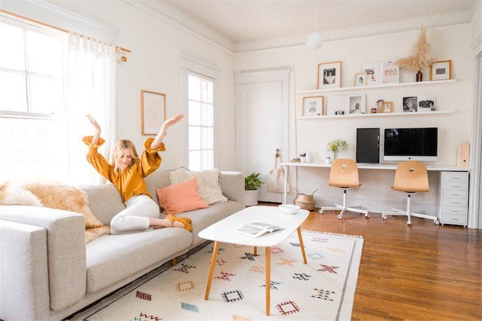 How An Interior Designer Decorates Her 700-Square-Foot
