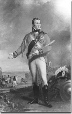 The Wellington boot, also known as a willy, a wellie, a topboot, a gumboot or a rubber boot, is a type of boot based upon Hessian boots. It was worn and popularised by Arthur Wellesley, 1st Duke of Wellington and fashionable among the British aristocracy in the early 19th century.