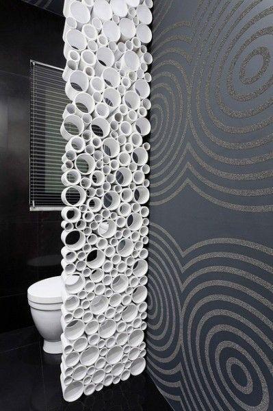Decorative Room Dividers Made of PVC Pipes / séparation de pièces avec du tuyau PVC