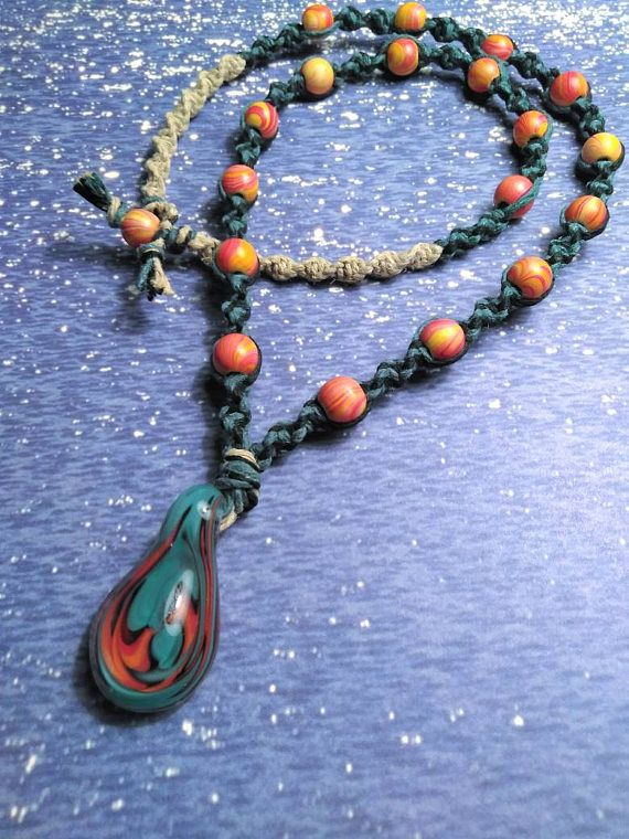 Check out this item in my Etsy shop https://www.etsy.com/listing/525204598/mens-hemp-necklaceglass