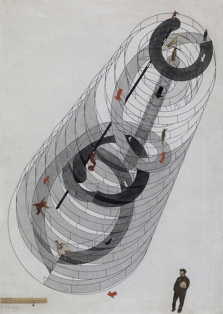 László Moholy-Nagy, Kinetisches konstruktives System. Bau mit Bewegungsbahnen für Spiel und Beförderung, 1928 / Theaterwissenschaftliche Sammlung, Universität zu Köln / © 2014 VG Bild-Kunst, Bonn