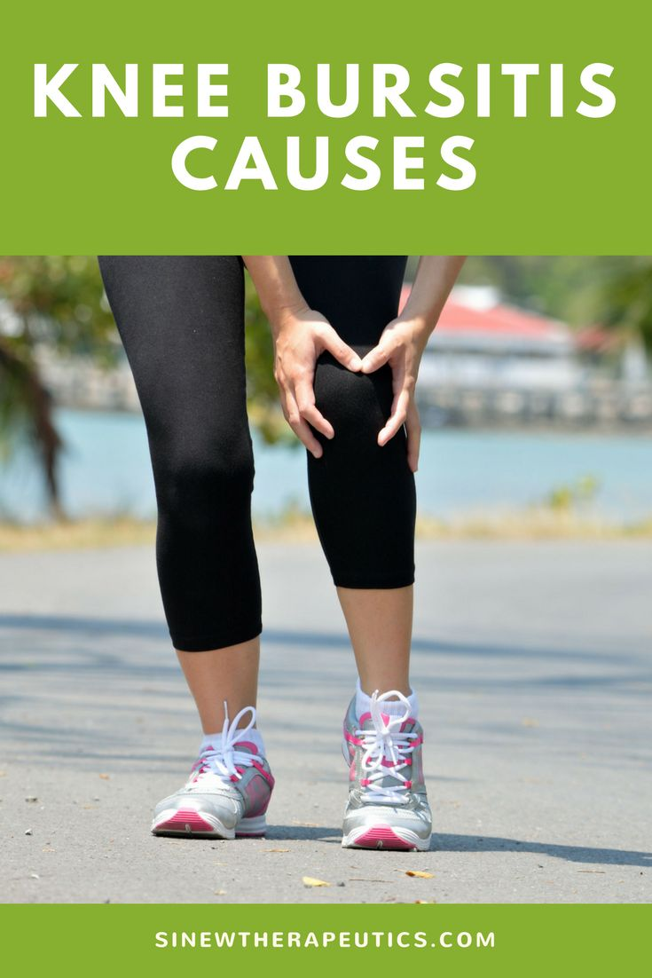 Knee Bursitis can be caused by either a direct trauma to the knee, repetitive motions, overuse of the knee, degenerative processes, or secondary to a disease process.  Get fast knee bursitis pain relief and recovery by following our treatment guide based on if you have acute or chronic stage symptoms.