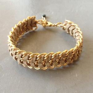 beige friendship bracelet