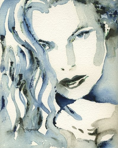 Kim Basinger | Lori Alexander  #illustrationInspiration, Portraits Blu, Watercolors, Lori Alexander, Favorite Art, Lori Alexandar, People, Meme