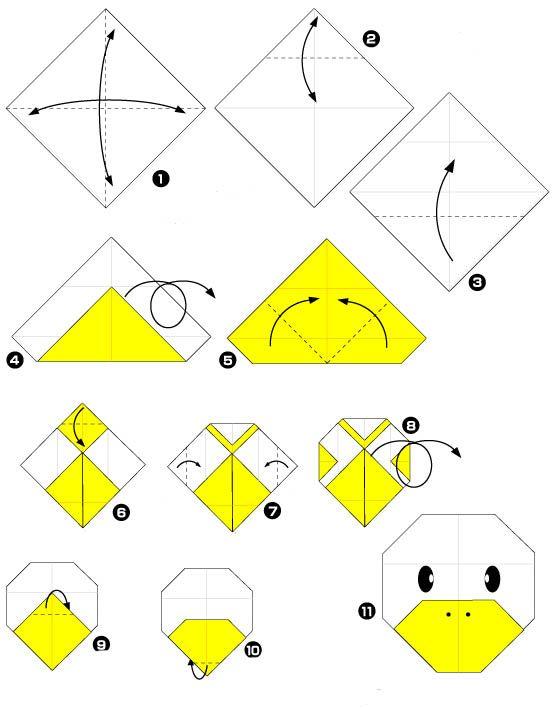 origami eend2a origami eend