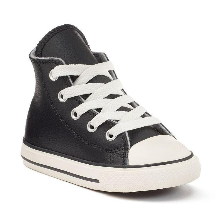 Toddler Converse Chuck Taylor All Star Leather & Wool High-Top Sneakers, Boy's, Size: 10 T, Black