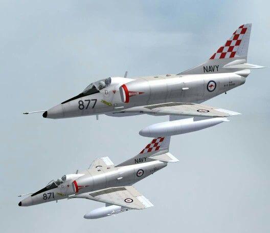 RAN A4 Skyhawk aircraft
