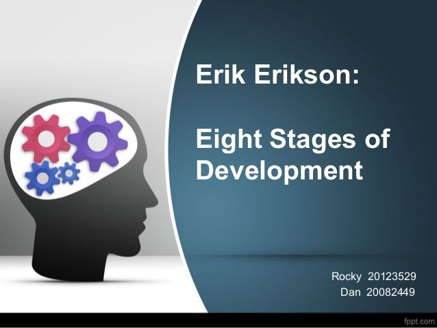 human development as explained through erik eriksons stages of psychological development Is responsible for language development through social and  theory that explained human personality development  stages of human development 1.