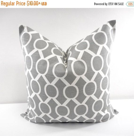PILLOW SALE GREY  Pillow. Gray  and white by TwistedBobbinDesigns