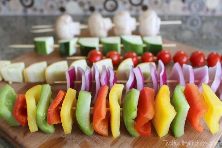 The Secret to Perfect Shish Kabobs from Two Healthy Kitchens - Grilled kabobs are so much better with this easy trick! Whether you grill steak, chicken, veggies, or any other kabobs ... here's all you need to know!