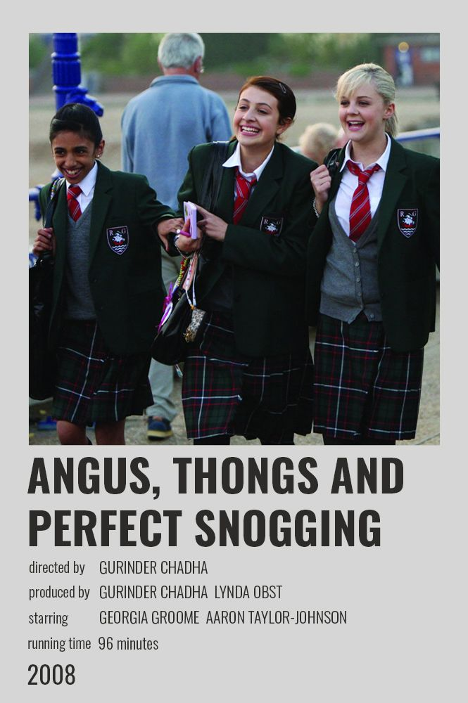 Angus Thongs And Perfect Snogging Polaroid Poster Film Posters Minimalist Iconic Movie Posters Iconic Movies