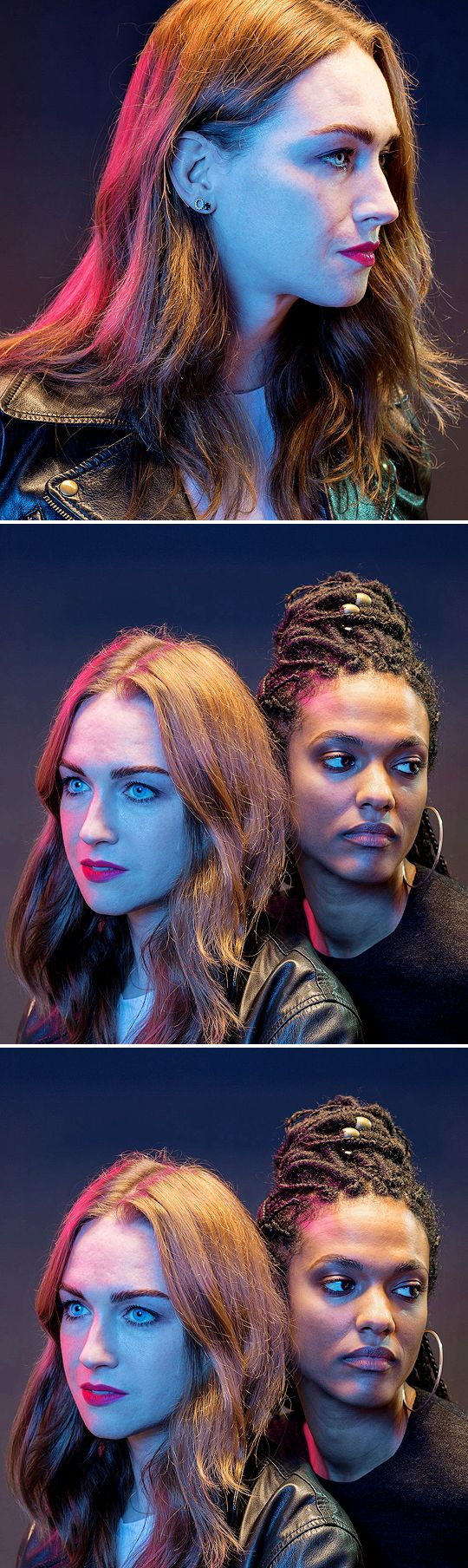 Jamie Clayton and Freema Agyeman photography by James Bareham (2017)