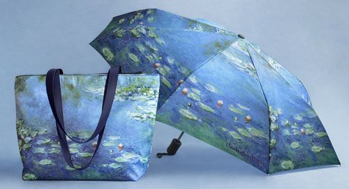 Monet Water Lilies Tote/Umbrella Set, Accessories, Apparel & Accessories - The Museum Shop of The Art Institute of Chicago