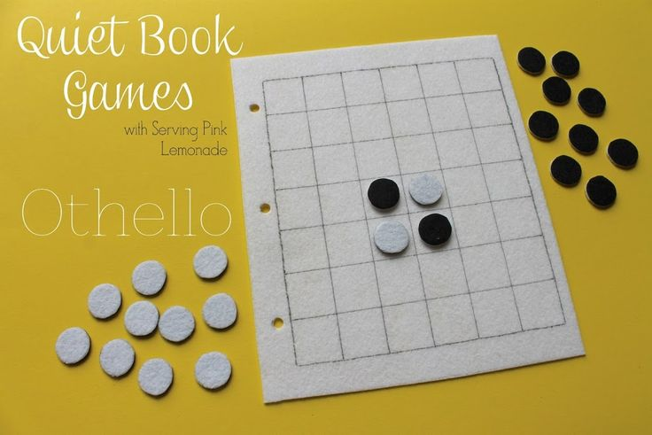 Simple Quiet Book Series – Othello Game - UCreate