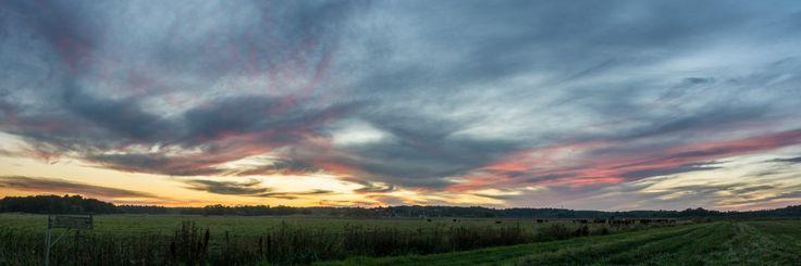 Sunset in Färingsö, Sweden