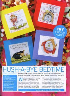 Hush A Bye Bedtime The World of Cross Stitching Issue 115 October 2006 Saved