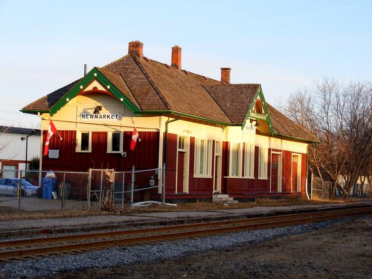 Original train station in Newmarket, Ontario.