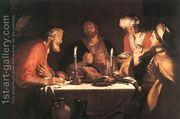 The Emmaus Disciples 1622  by Abraham Bloemaert