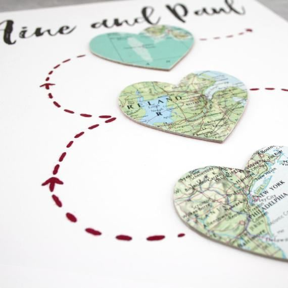 Travel print and artwork ideas. The perfect gift for families that live far apart or long distance couples. Celebrate your special places #travelgifts #travelwedding @etsy