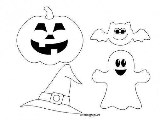 Plantilla manualidades fieltro Halloween