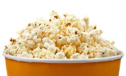 6 Healthy Alternatives to Movie Popcorn...IDK how you would have these foods on hand at the movies, but they sound delicious!