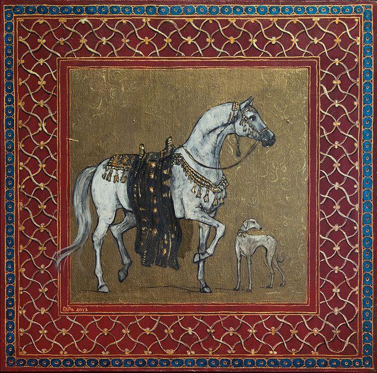 """Ознакомьтесь с моим проектом @Behance: «""""Arabian horse and sloughi dog""""» https://www.behance.net/gallery/54276665/Arabian-horse-and-sloughi-dog"""