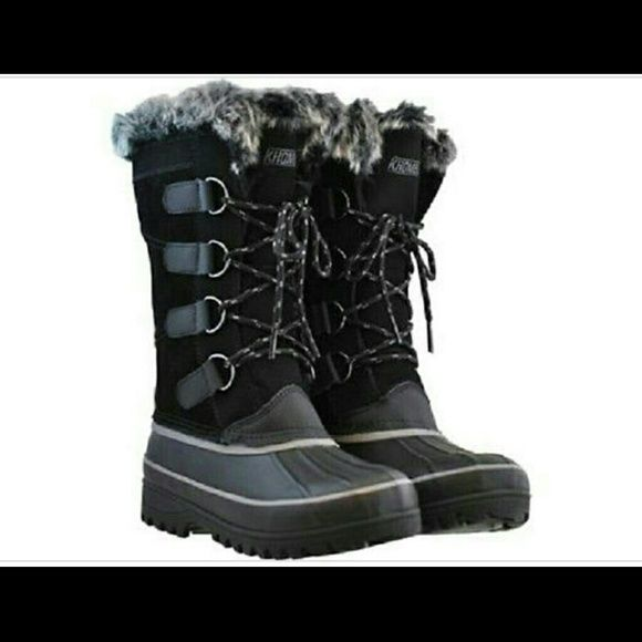 Brand New KHOMBU boots Black KHOMBU boots faux fur cuff and lining for warmth and comfort KHOMBU Shoes