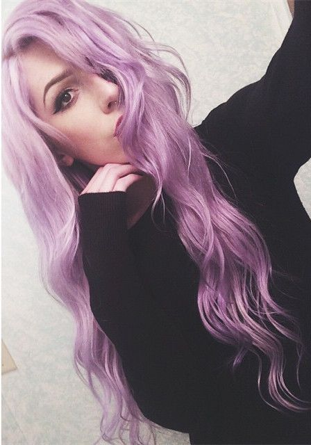 Lavender purple waves~ love this hair extensions color so much~