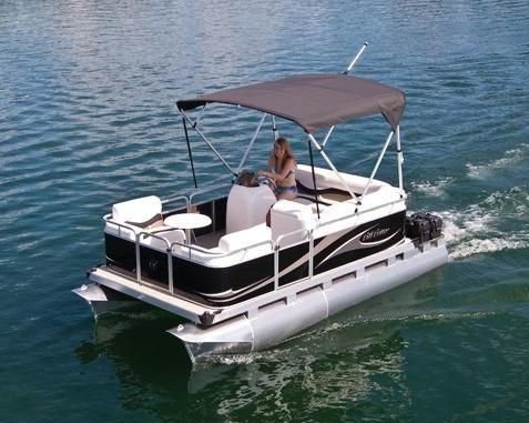 https://flic.kr/p/7zeDLJ | 715 CD Small Electric Pontoon Boat | 15' small pontoon boat powered by a Minn Kota E-Drive electric motor w/ power tilt.  For questions please call Ahlstrand Marine @ 847-949-8899