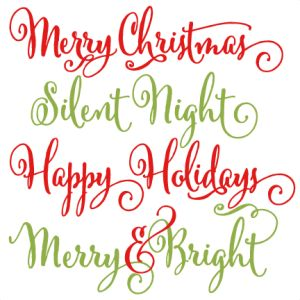 Christmas Phrases scrapbook clip art christmas cut outs for cricut cute svg cut files free svgs cute svg cuts