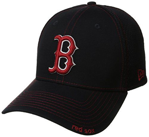 MLB Boston Red Sox Neo Fitted Baseball Cap Navy Small Medium New Era