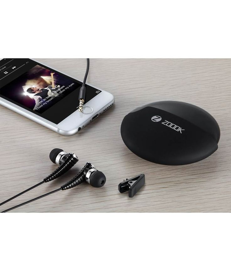 Zoook Rocker RDX I1 In Ear Wearable Earphones with Mic (Black)