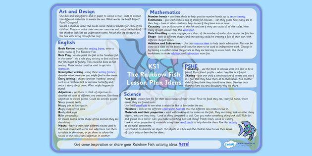 Best 25 the rainbow fish ideas on pinterest rainbow for Rainbow fish lesson plans