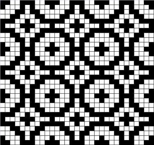 Geometrisk mønster som sikkert passer på alt fra votter til gensere.