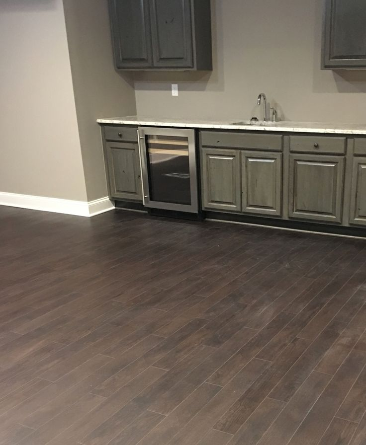 Medium Shade Oak Hardwood For Basement Bar And