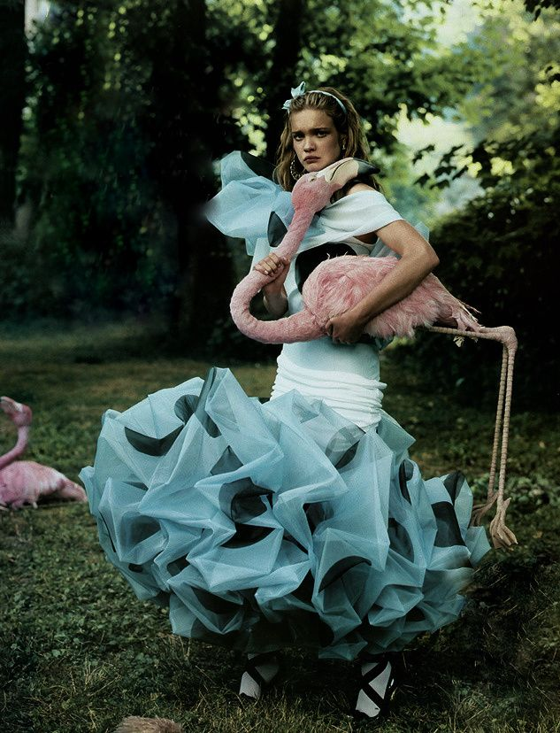 """""""Alice in Wonderland"""". Natalia Vodianova in Dior Couture by Annie Leibovitz"""